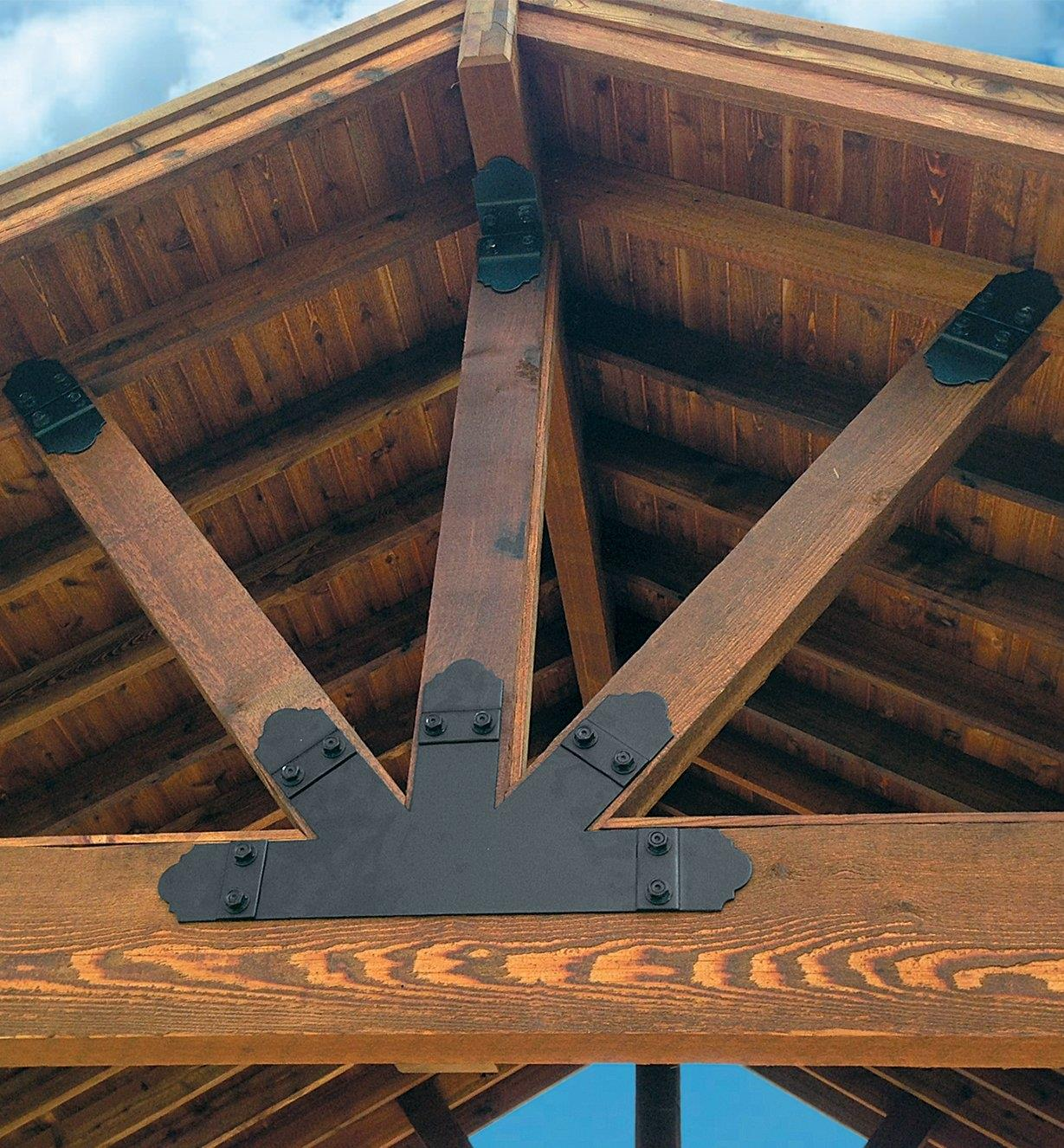 Example of Ozco Truss Ties used on an outdoor structure