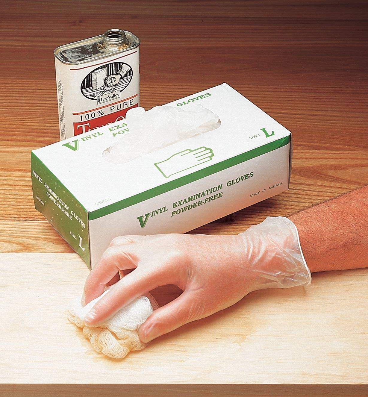 Powder-Free Vinyl Gloves, Box of 100