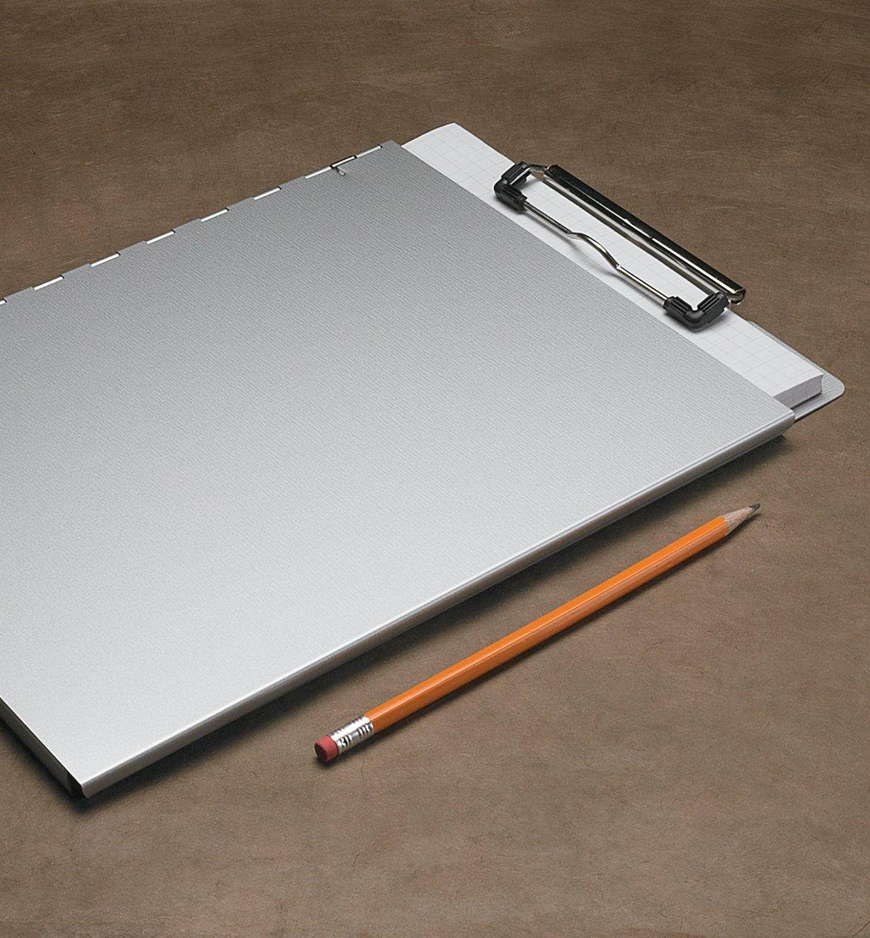Portfolio Clipboard with pad of paper inside and cover closed overtop