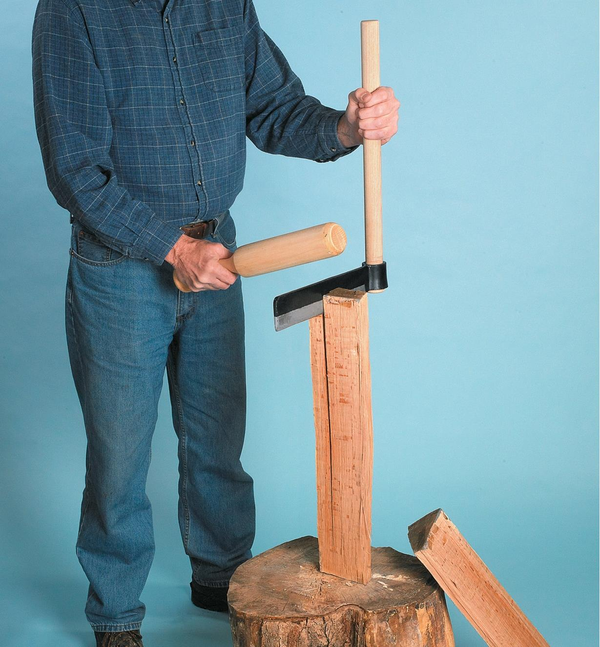 Froe Mallet used with a froe to split wood