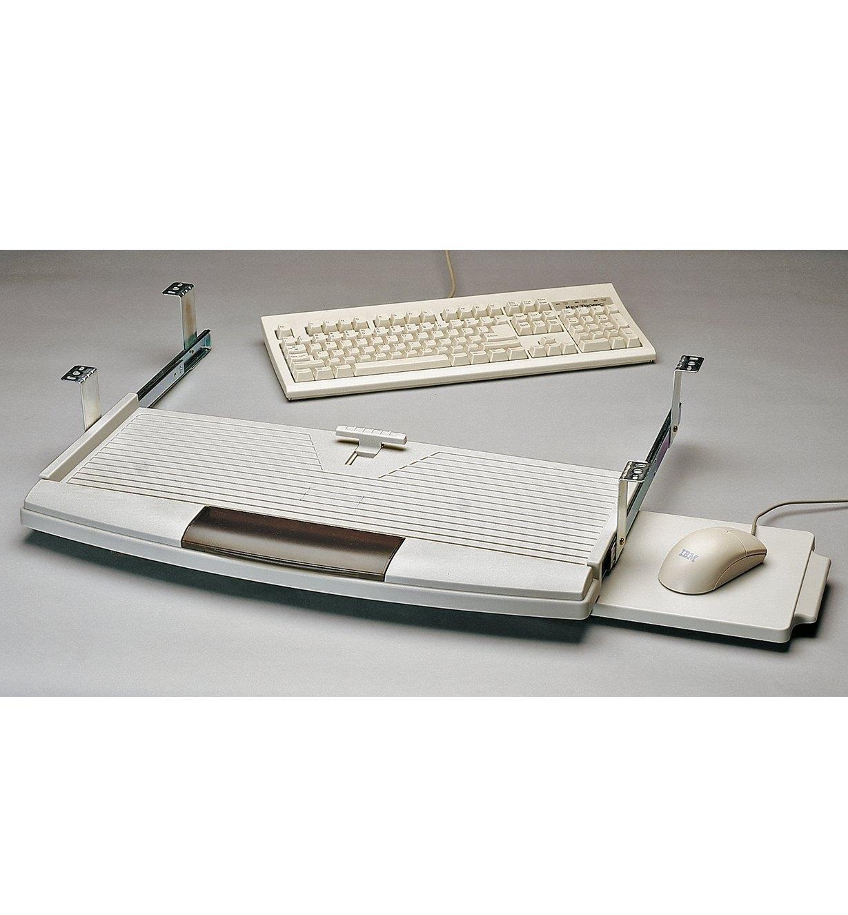 12K6911 - Plateau coulissant pour clavier d'ordinateur, beige
