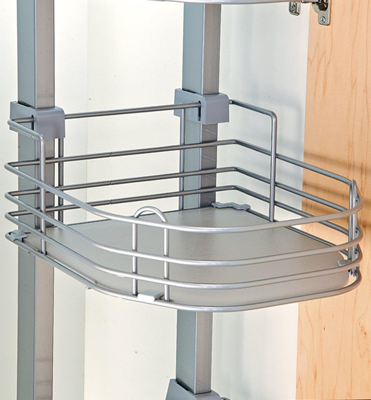 Close-up of pantry unit shelf