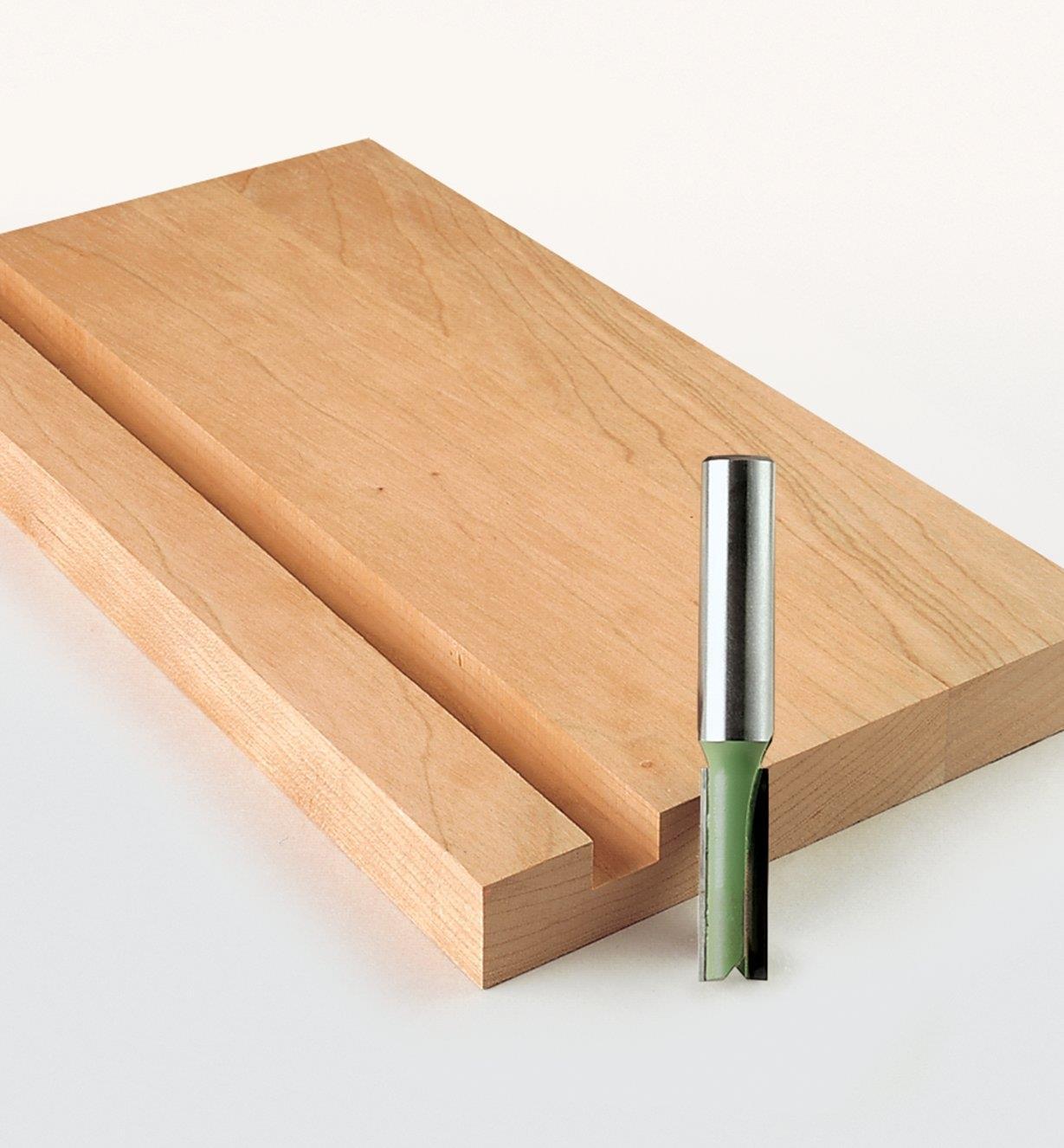 18J0780 - Mèche droite pour gabarits Leigh, 0,313po x 1,030po x 8mm