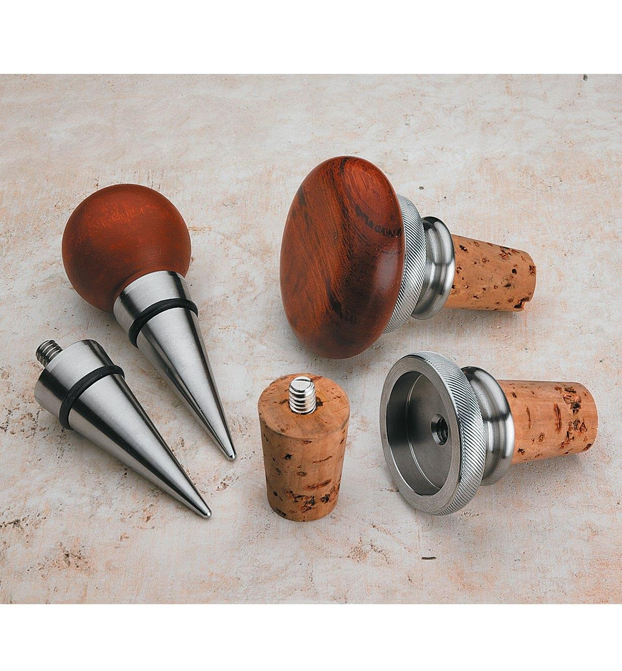 Stainless-Steel Bottle Stopper Components