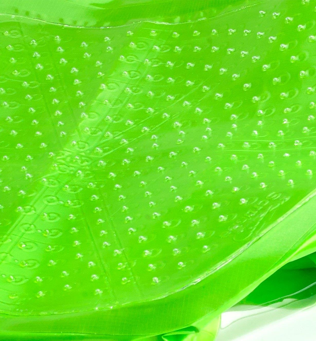 Close-up of silicone washboard inside the Scrubba Wash Bag