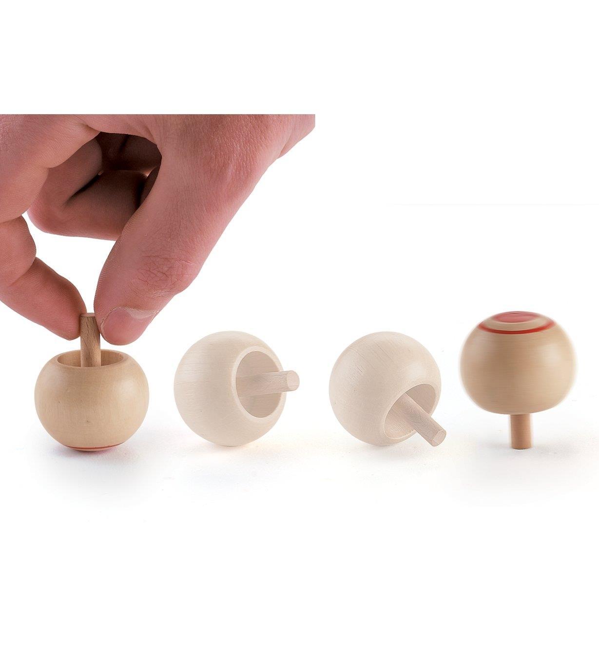 45K1777 - Wooden Tops, set of 3
