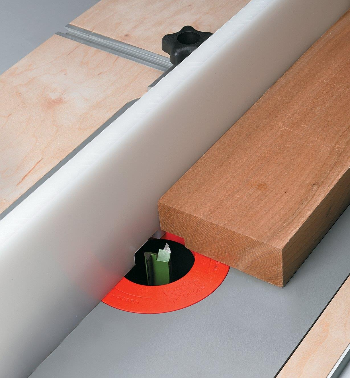 """A router table fence made with 3/4"""" UHMW"""