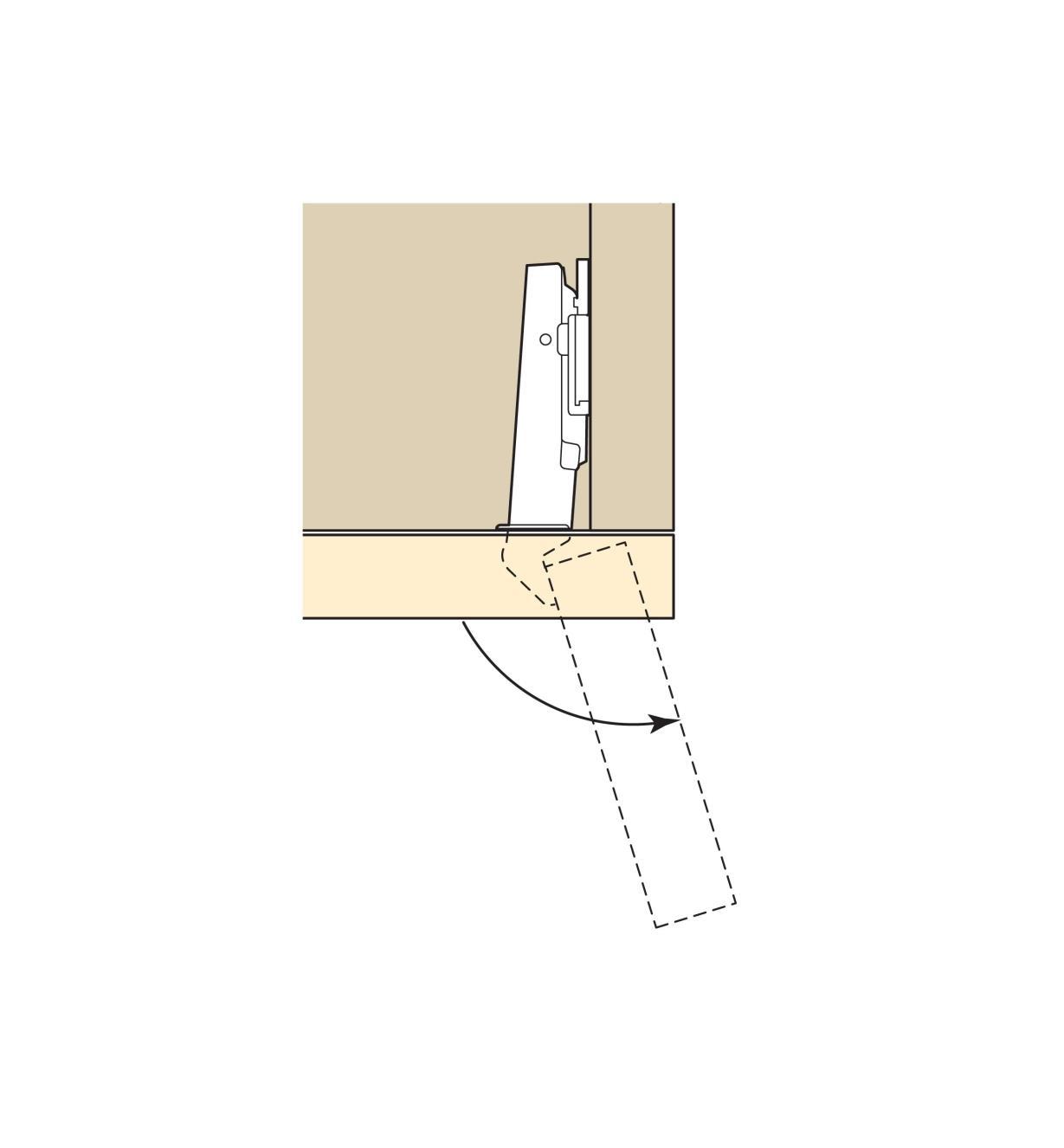 00B1510 - Charnières Blum Clip Top 107°, porte à recouvrement, la paire