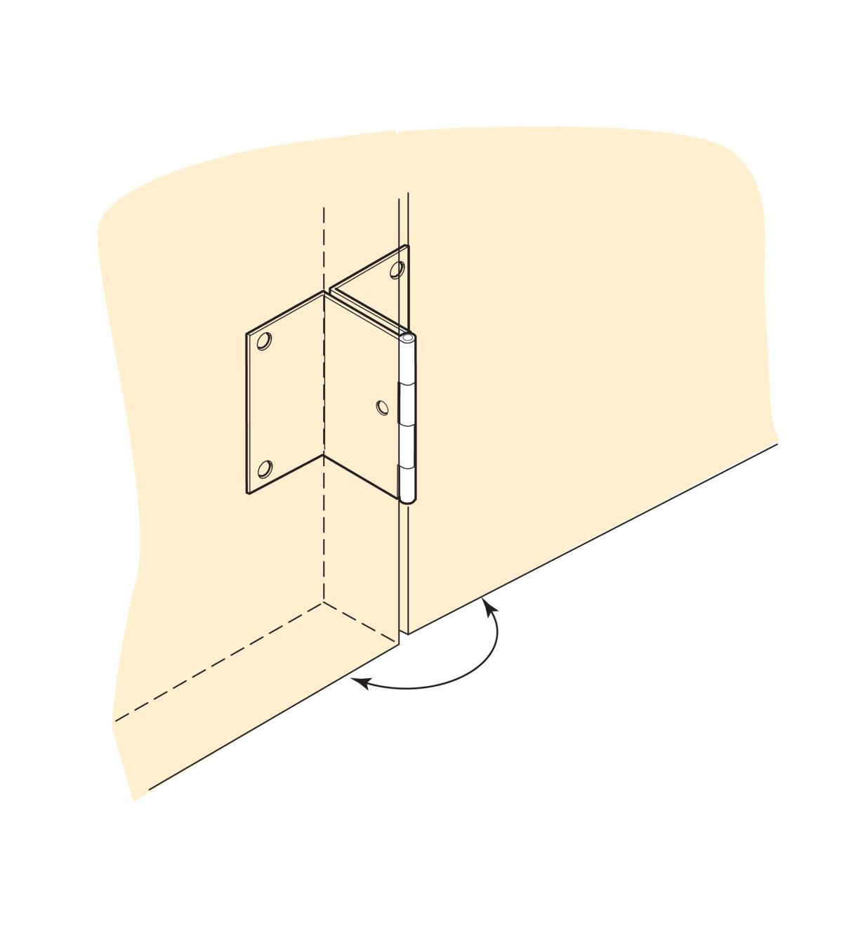 00H3770 - 180° In-Line Hinges, pair
