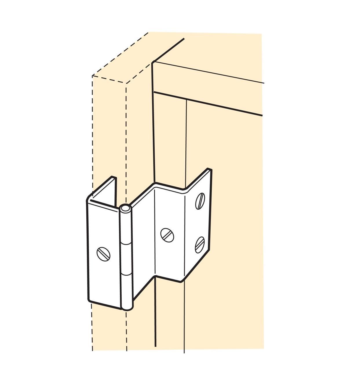 00H6201 - Fold-Back Hinges, pr.