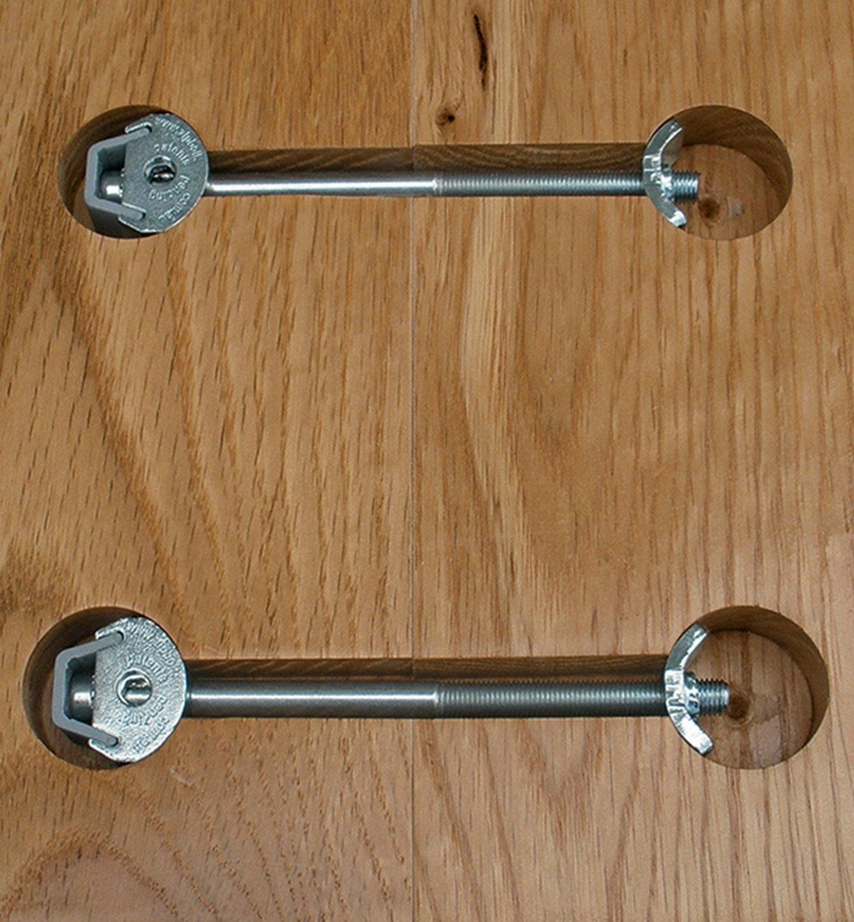 Two Zipbolt Countertop Connectors installed