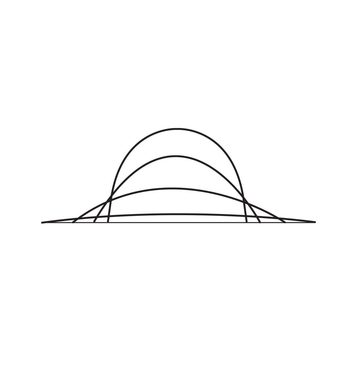 05N5501 - Arc de dessin symétrique