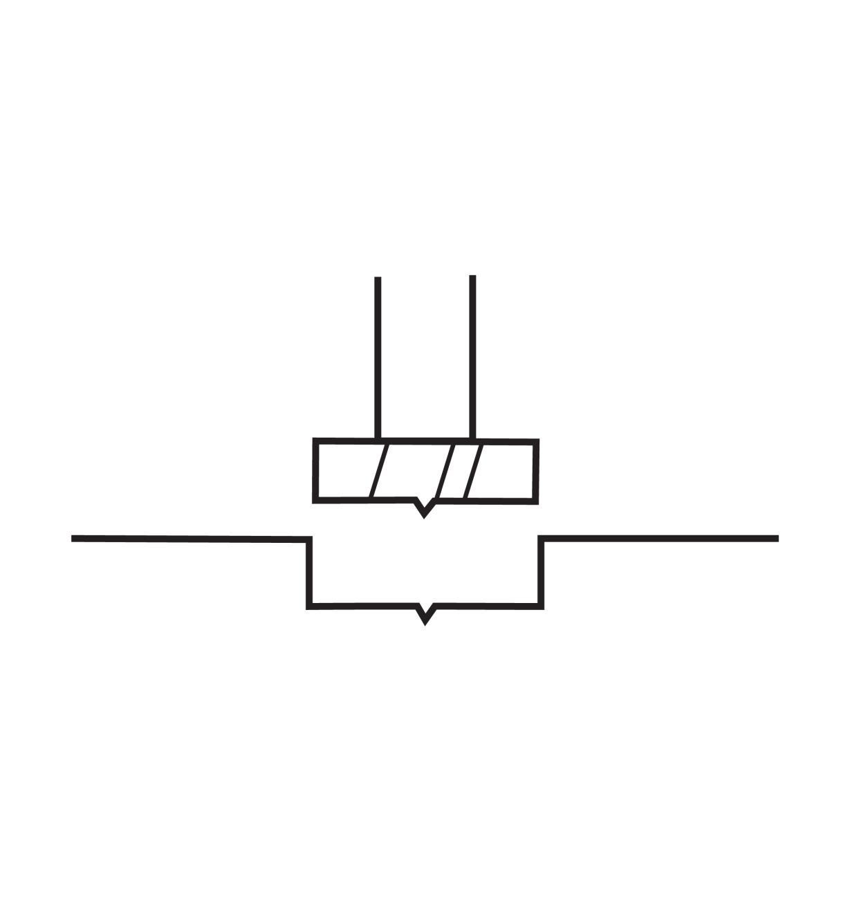 06J7104 - Mèche Forstner en acier rapide, 1/4po