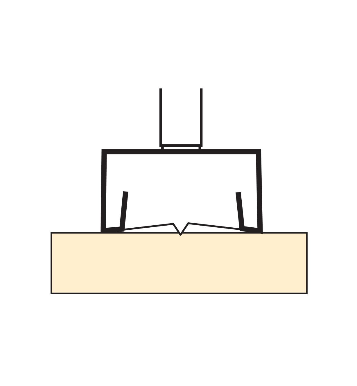 06J7117 - Mèche à arêtes dentées en acier rapide, 11/16po