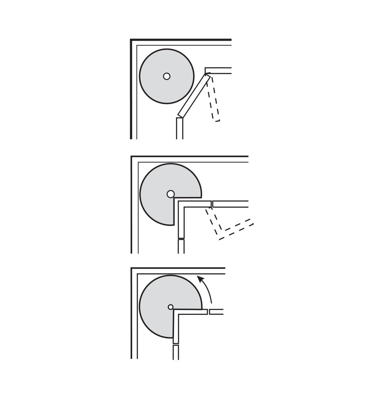12K7210 - Revolving Shelf Hardware