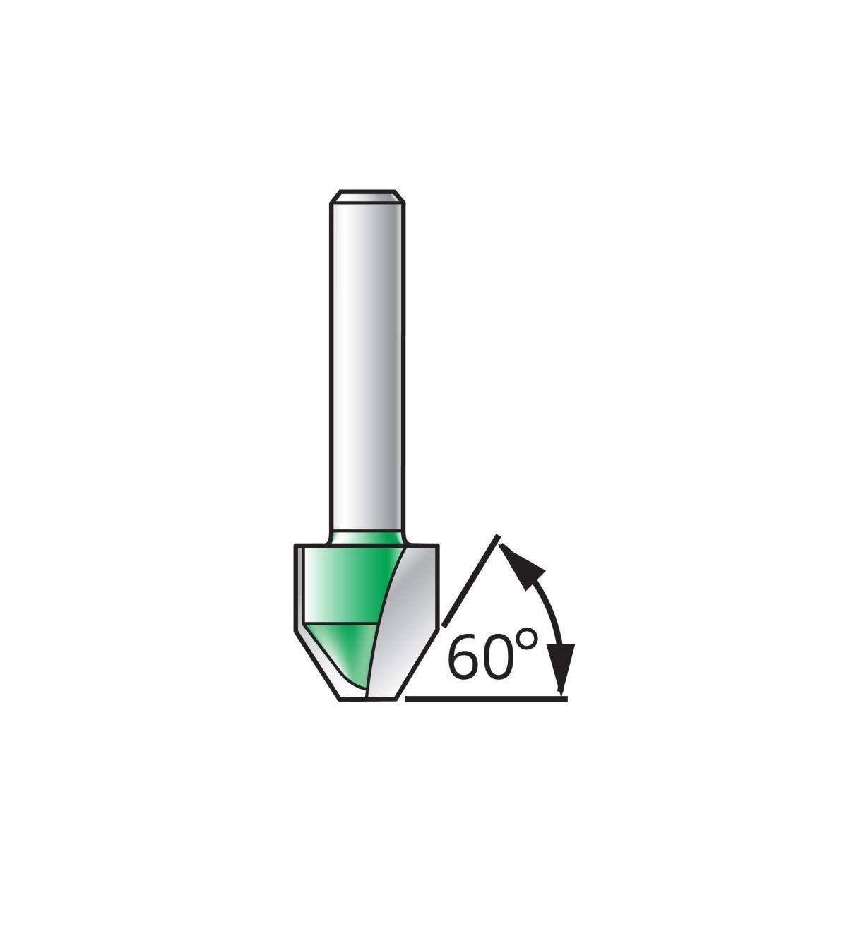 16J5303 - Mèche à lettrage à fond plat