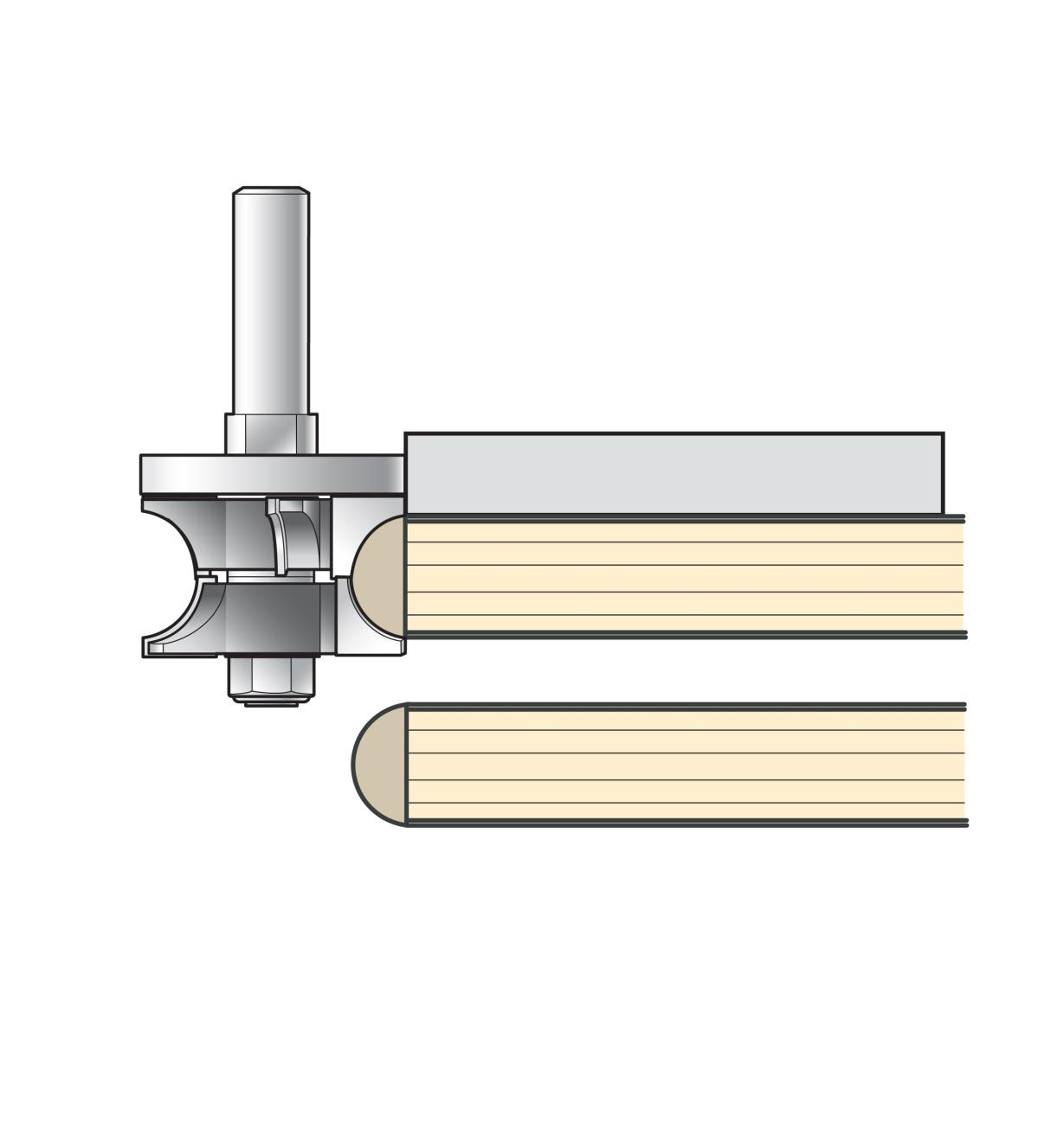 16J9403 - Adjustable Bullnose Edging Bit