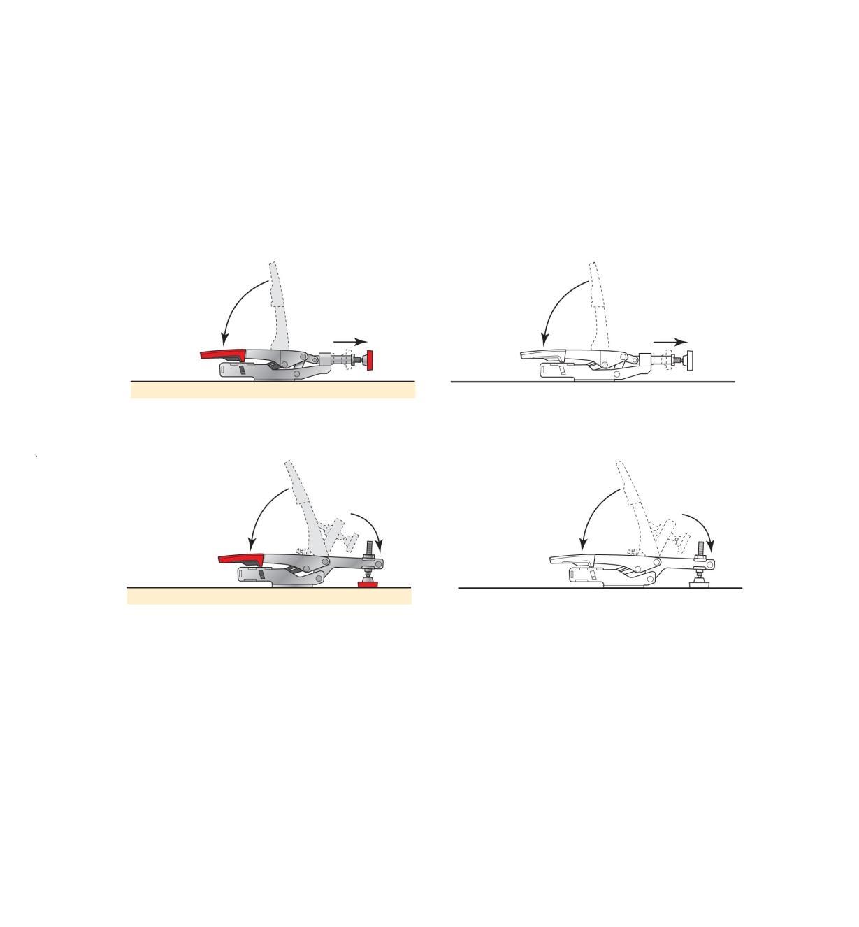 17F7201 - Sauterelle autoréglable horizontale, modèle bas Bessey
