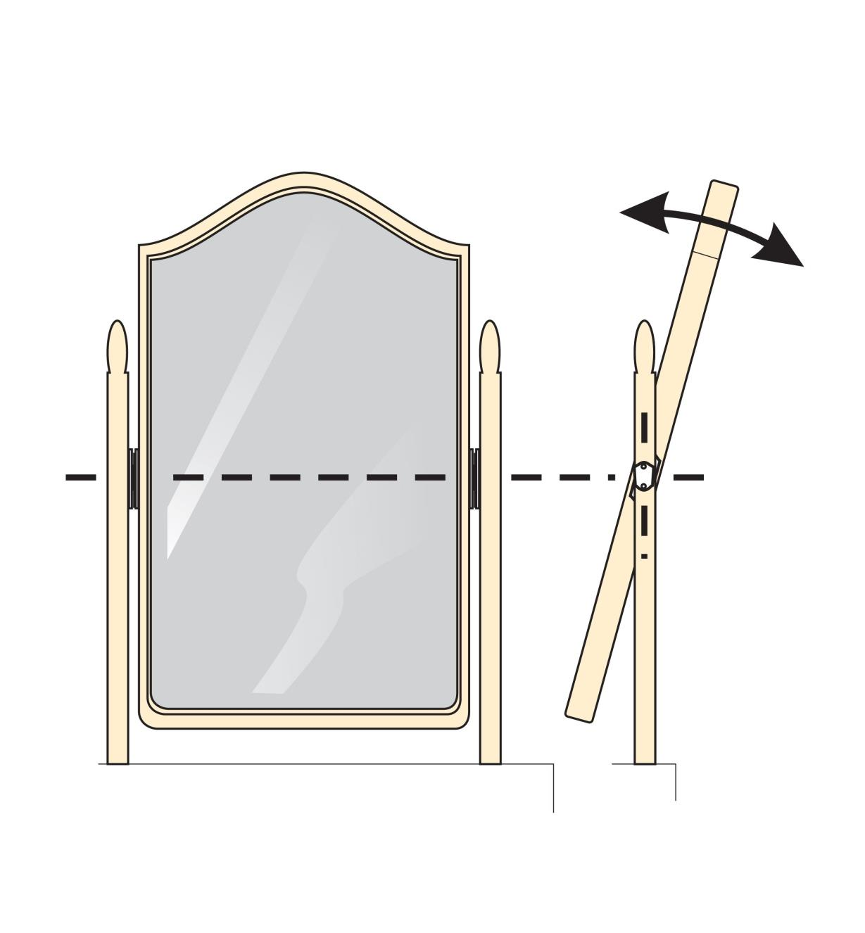 Pivots pour miroir