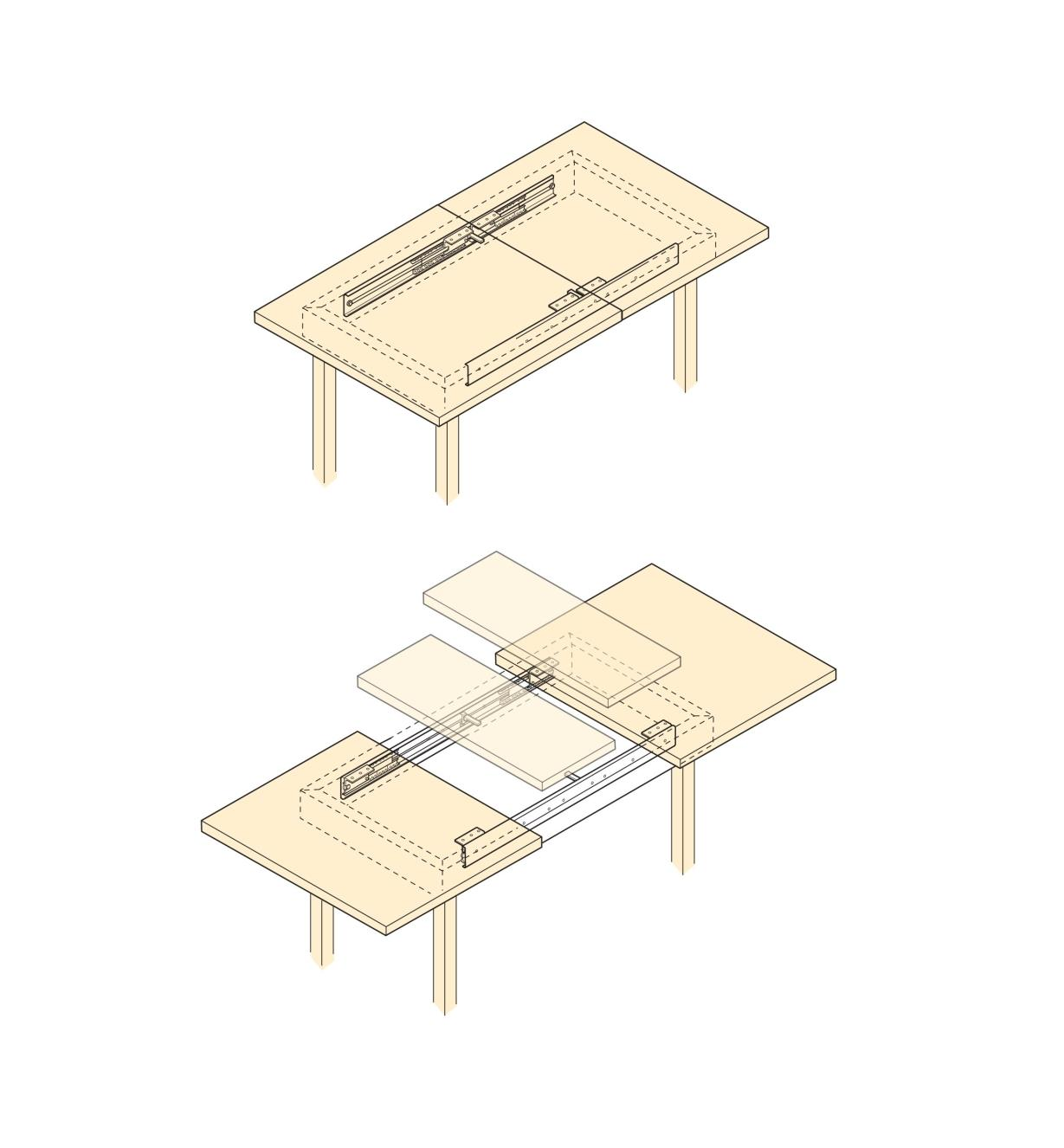 Side-Mount Table Slides