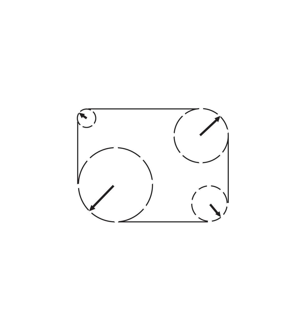 05K5030 - Ensemble d'outils pour arrondirVeritas