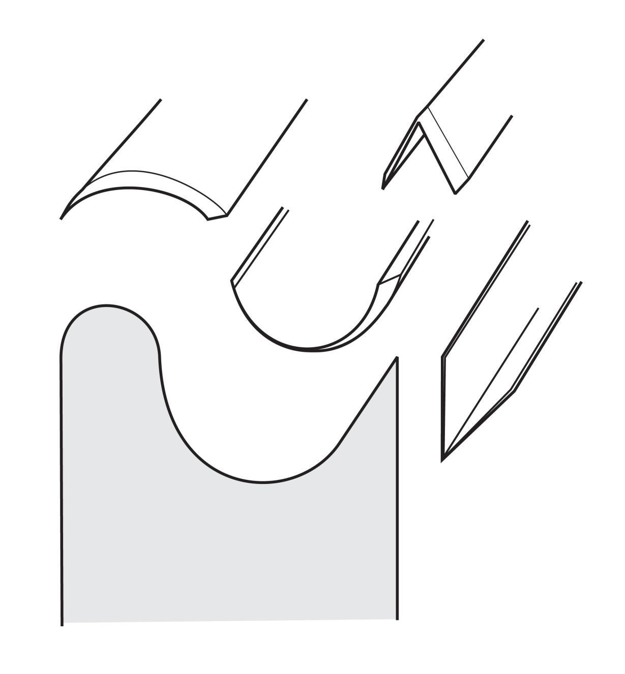08M4203 - Disque à polir profilé en feutre