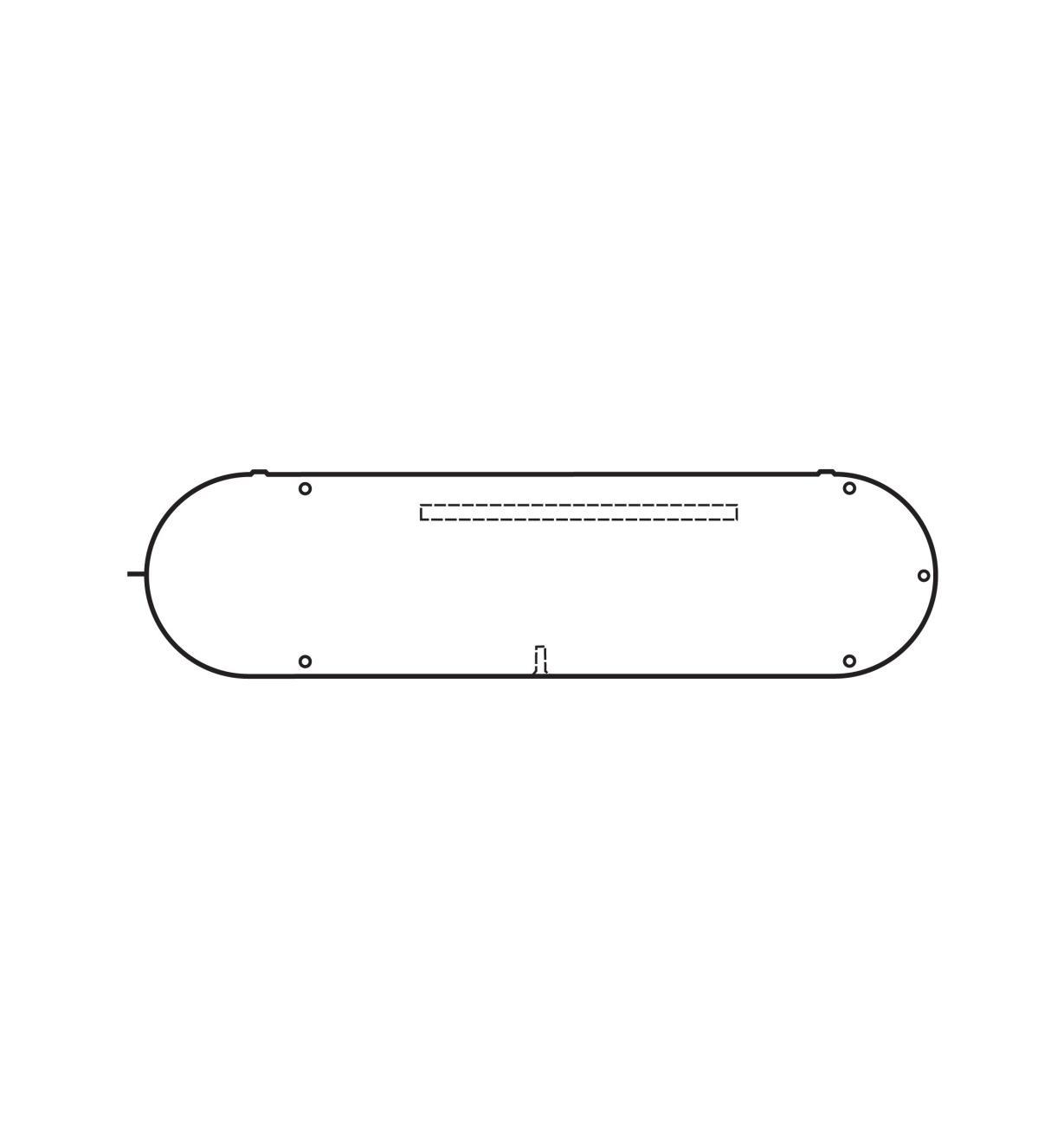 "46J8501 - Delta Throat Insert(3 3/4"" x 13 3/8"")"