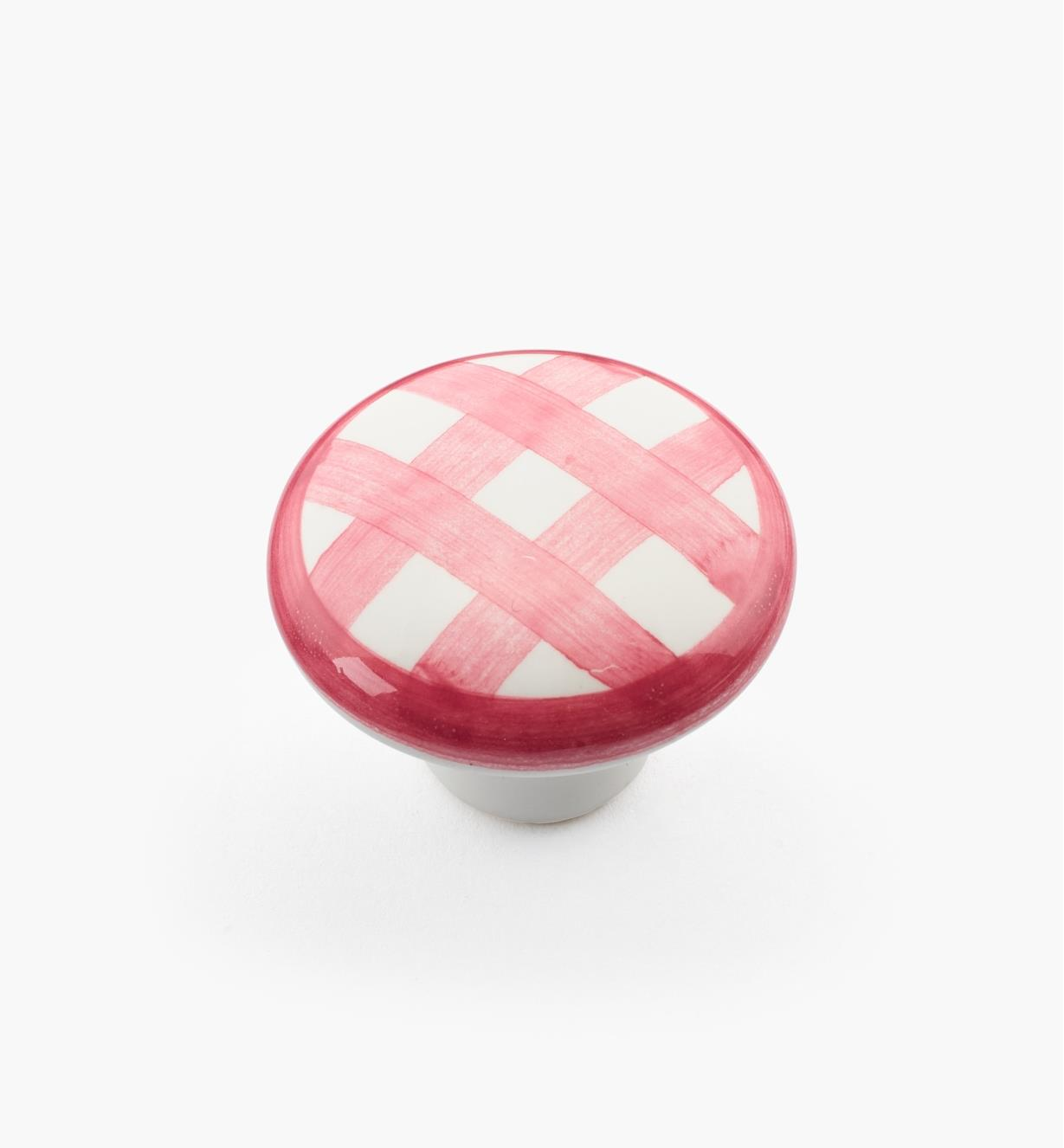 "00W5226 - 1 1/4"" x 7/8"" Red Checkered Knob"