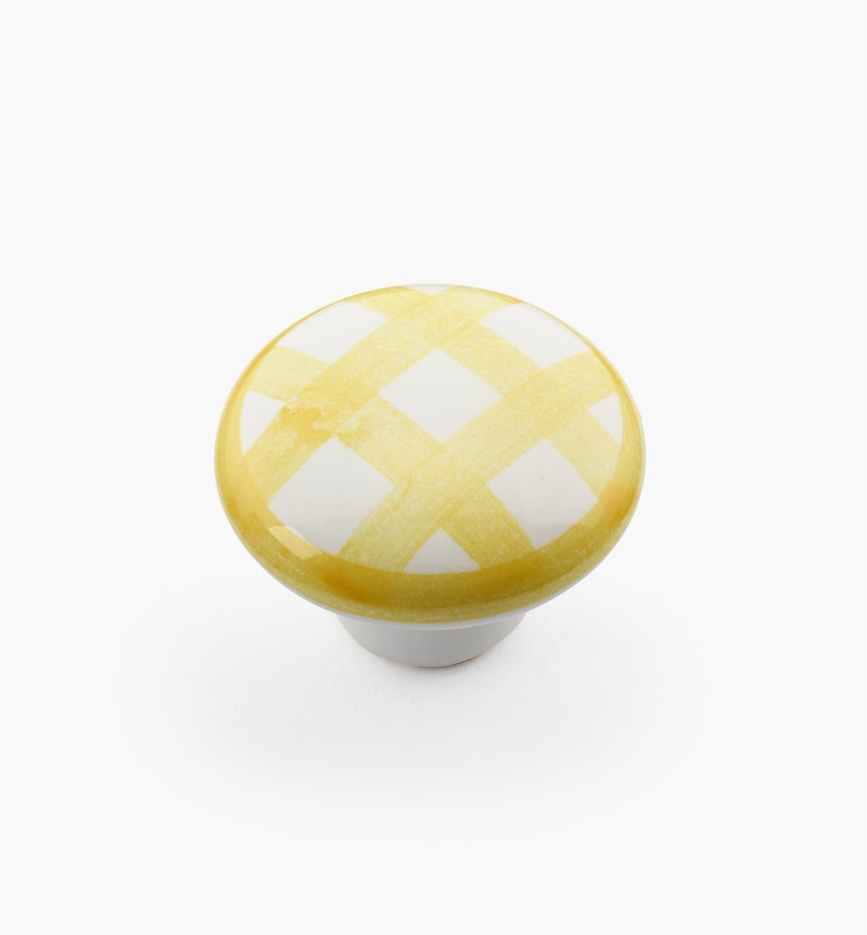 "00W5246 - 1 1/4"" x 7/8"" Yellow Checkered Knob"