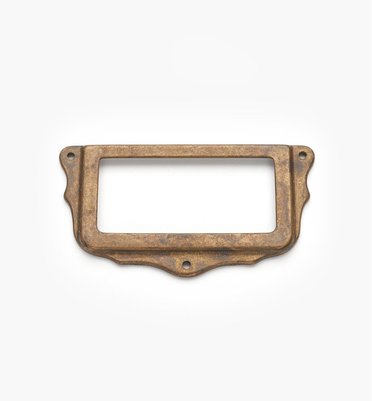 01A5761 - Old Brass Card Frame