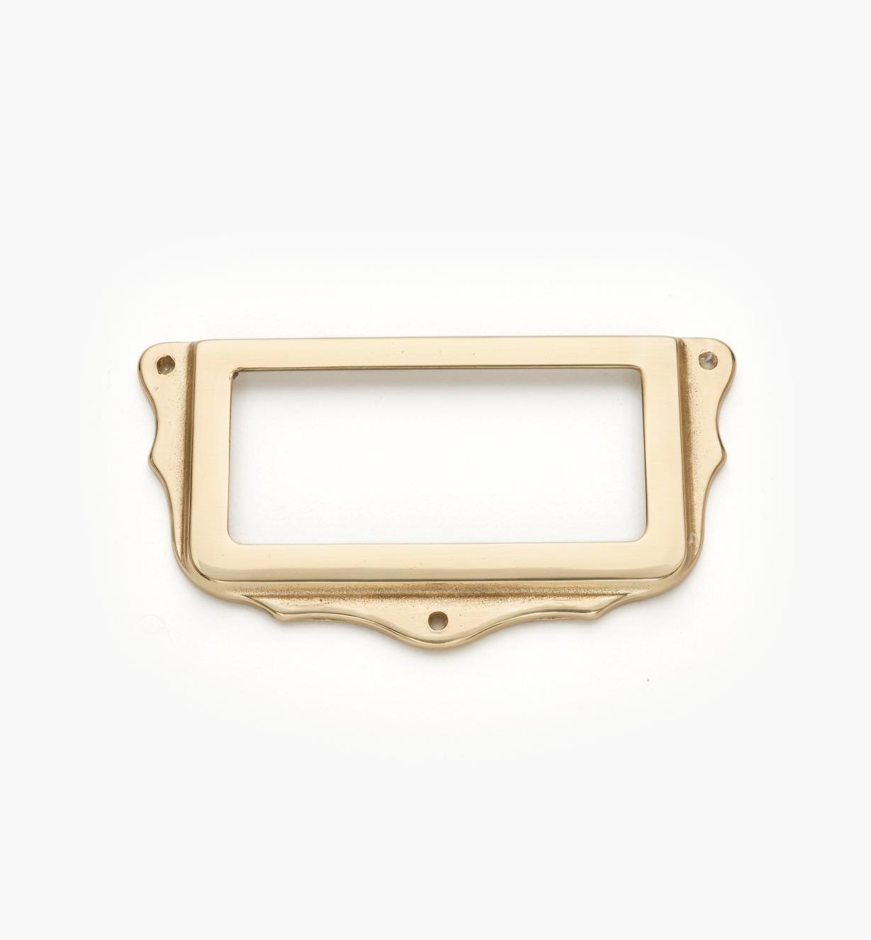 01A5763 - Porte-étiquette, laiton poli, 75 mm x 40 mm