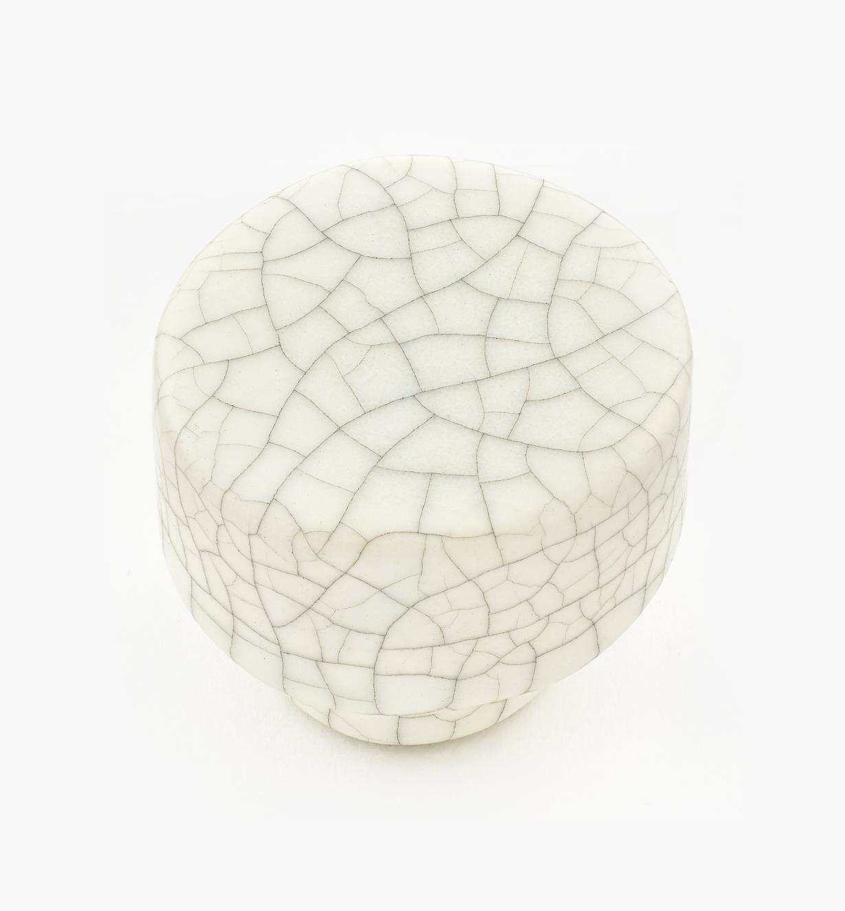 01W0551 - Bouton rond craquelé en céramique, 35 mm x 30 mm
