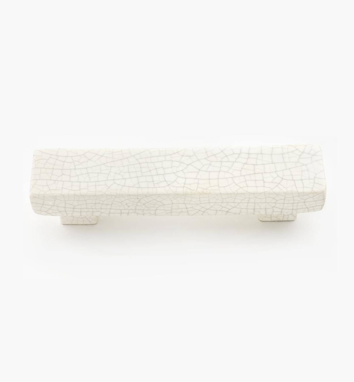 01W0552 - Poignée craquelée en céramique, 96 mm
