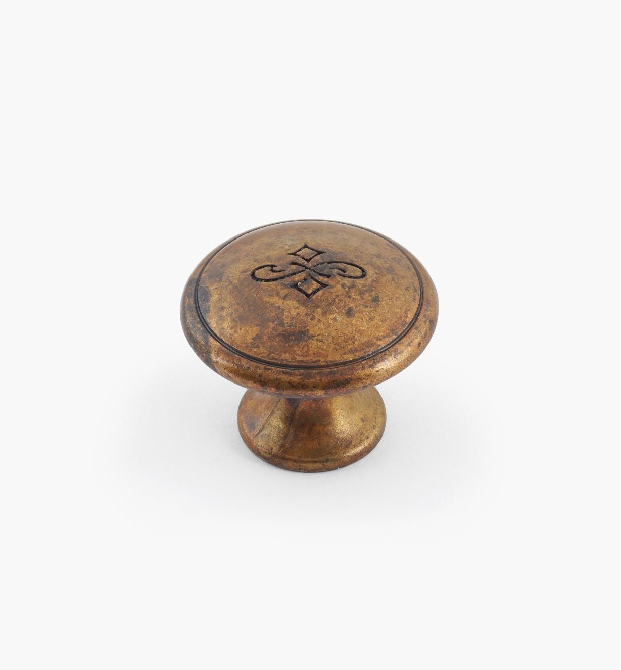 01X4110 - 25mm x 20mm Old Brass Knob