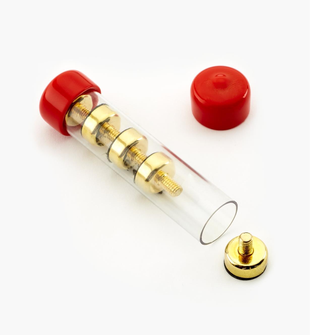 99K4512 - Socles magnétiques en laiton, 12 mm – FiletageM4, le paquet de 5