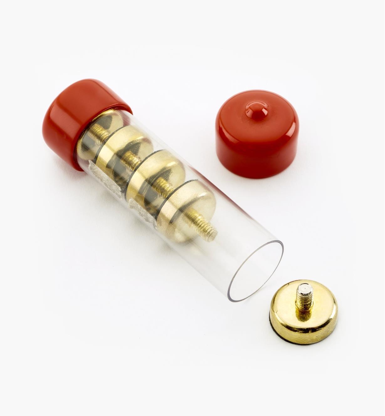 99K4516 - Socles magnétiques en laiton, 16 mm – FiletageM4, le paquet de 5