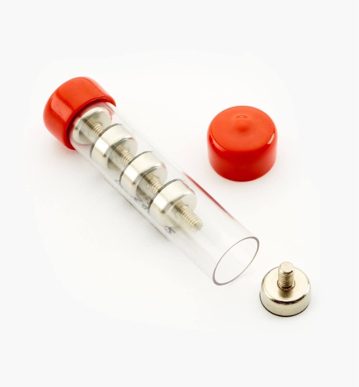 99K4712 - Socles magnétiques en nickel, 12 mm – FiletageM4, le paquet de 5