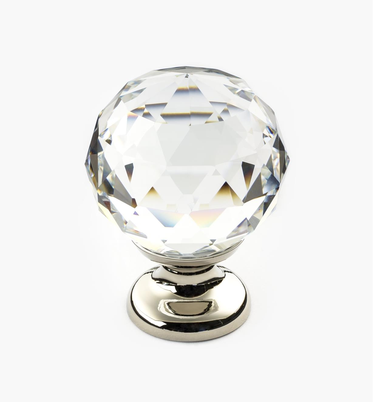 01A3441 - Large Faceted Glass Knob, PN