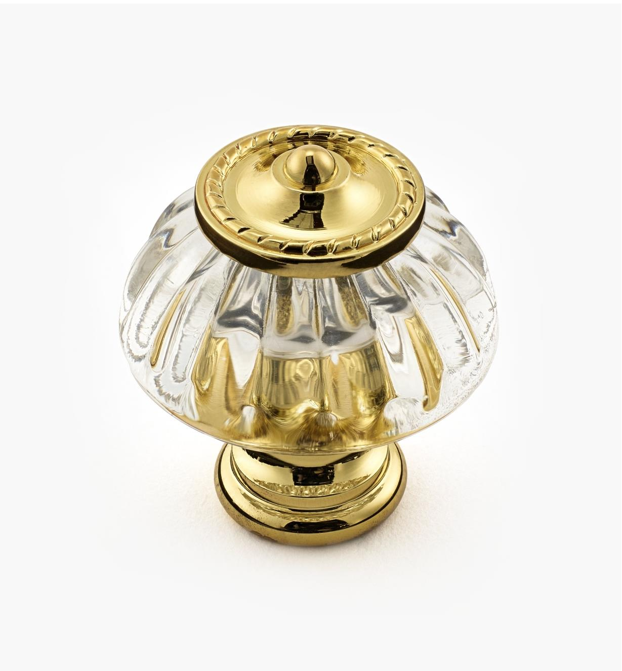 "01W2580 - 1 1/4"" Brass Plated Knob"