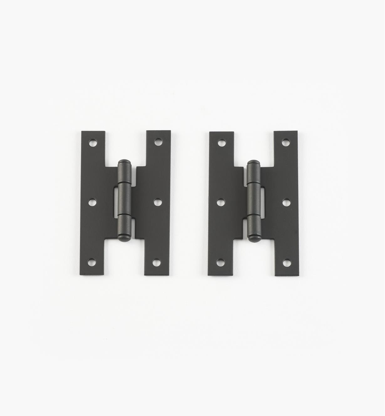 01X3510 - Pentures de milieu à plat, fini lisse, 3 po x 1 13/16 po, la paire