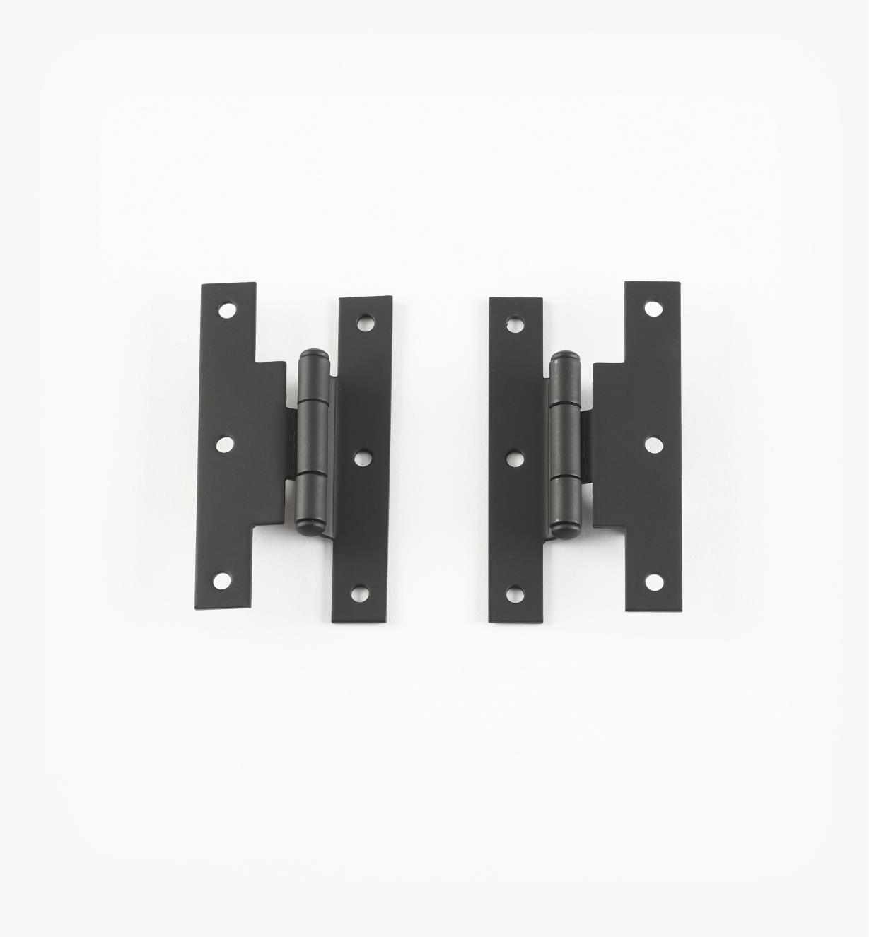01X3520 - Pentures de milieu déportées, fini lisse, 3 po x 1 5/8 po, la paire
