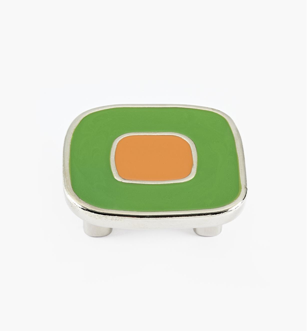 01X4341 - Enamel Infill 32mm x 52mm Large Green/Orange Knob