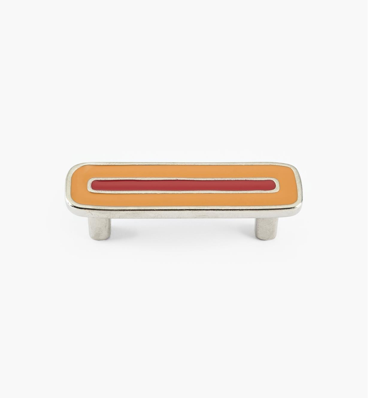 01X4352 - Enamel Infill 64mm x 90mm Small Orange/Red Handle