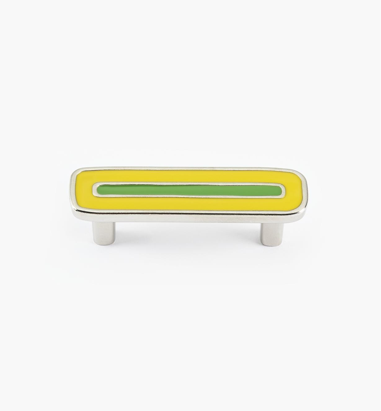 01X4362 - Enamel Infill 64mm x 90mm Small Yellow/Green Handle