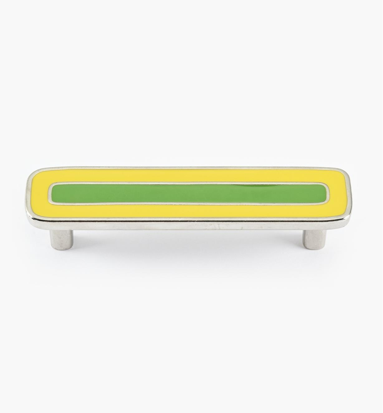 01X4363 - Enamel Infill 96mm x 122mm Large Yellow/Green Handle