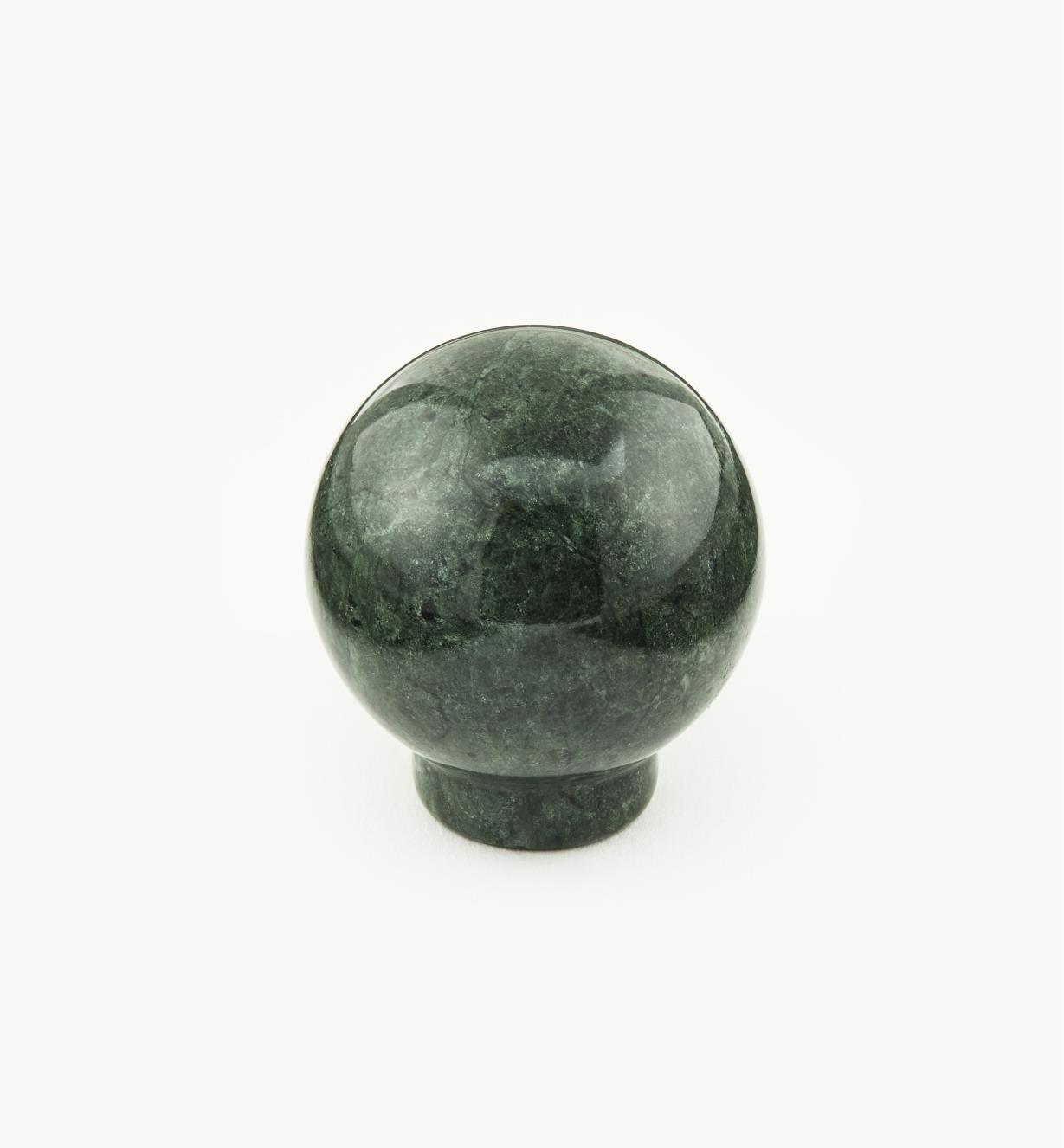 00W4011 - Bouton en marbre, vert, 33,5 mm x 35,5 mm