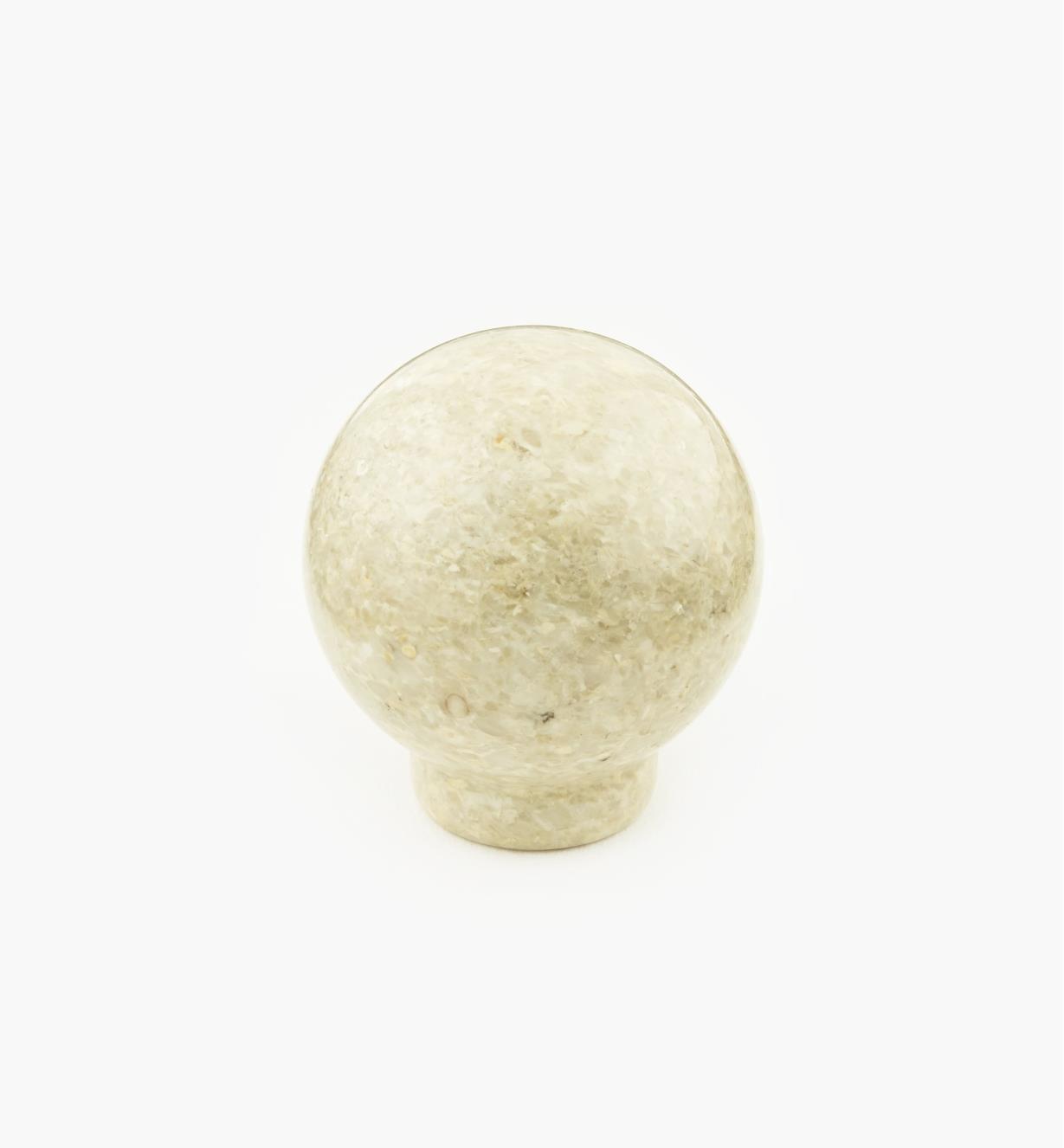 00W4012 - Bouton en marbre, sable, 33,5 mm x 35,5 mm