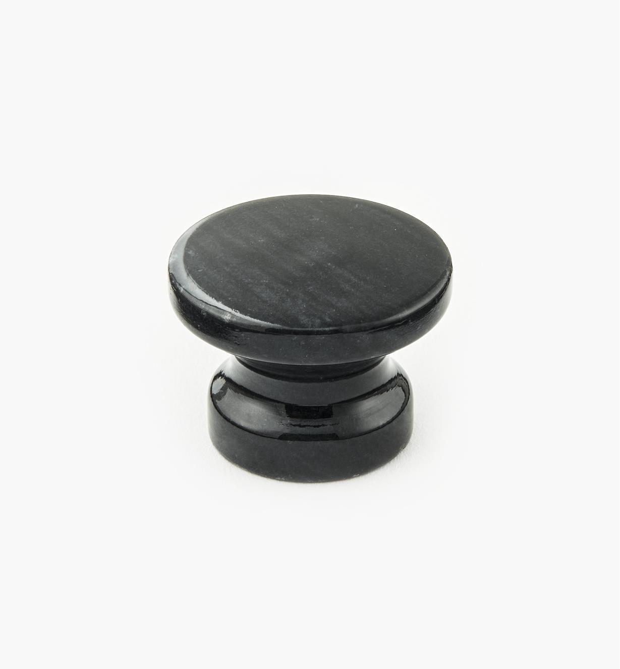 00W4023 - Bouton en marbre, noir, 34 mm x 25 mm