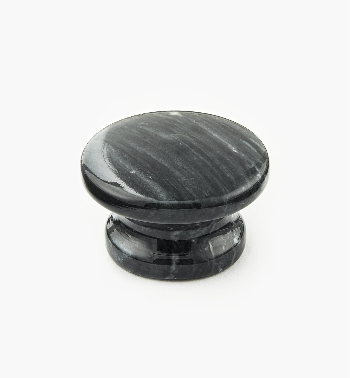 00W4033 - Bouton en marbre, noir, 40 mm x 25 mm