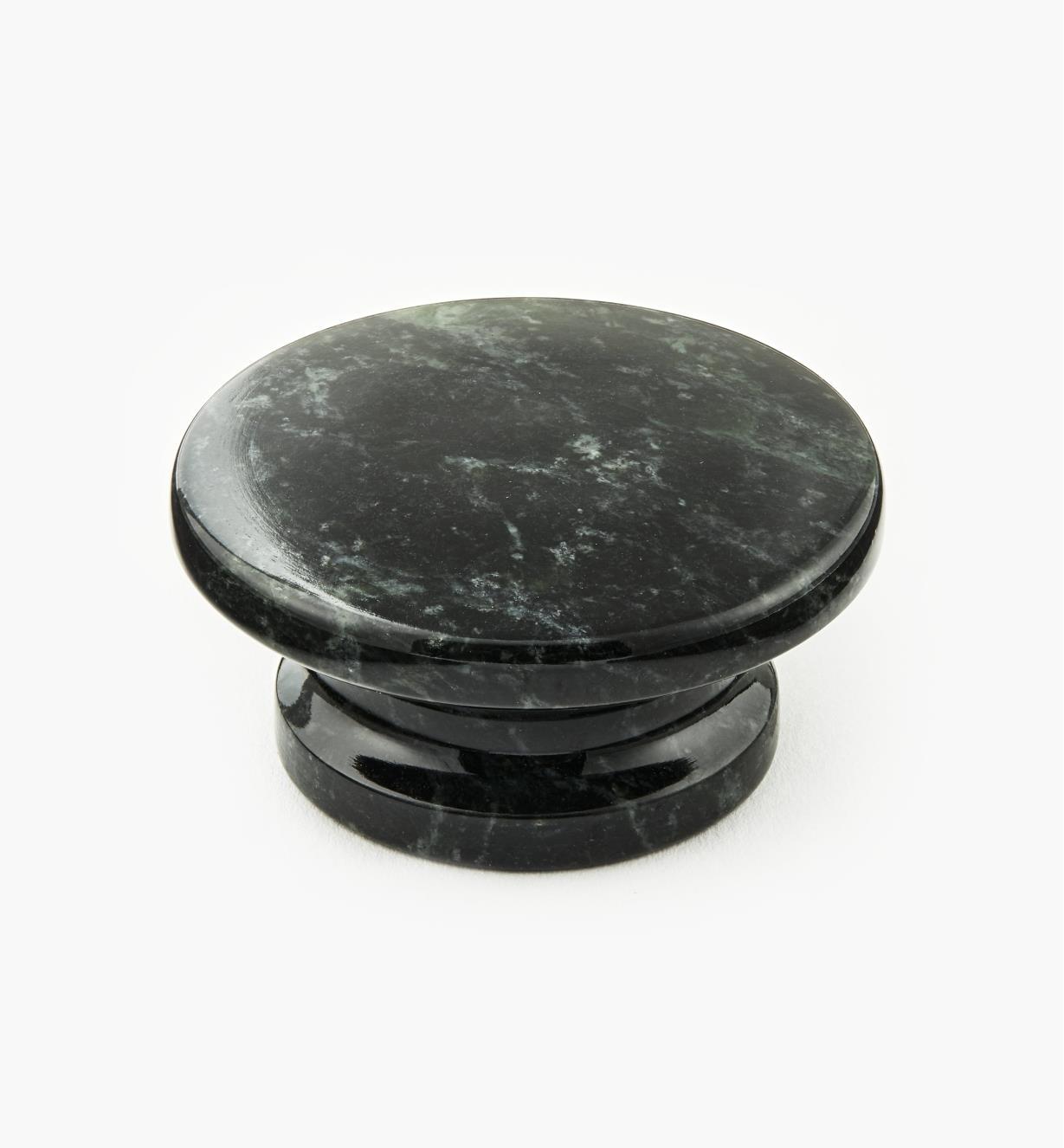 00W4041 - Bouton en marbre, vert, 50 mm x 25 mm